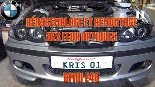 Démontage, rénovation et remontage des feux optiques - BMW E46 [partie 4/4]