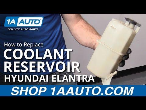 How to Replace Coolant Reservoir 07-10 Hyundai Elantra