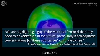 Video summary: Study reveals new threat to the ozone layer