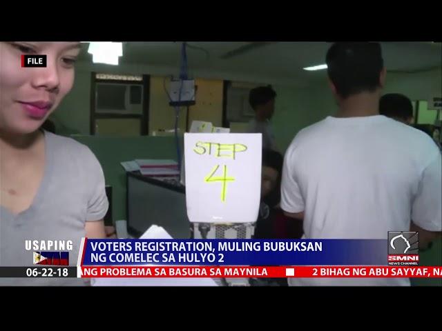 Voters registration, muling bubuksan ng Comelec sa hulyo 2