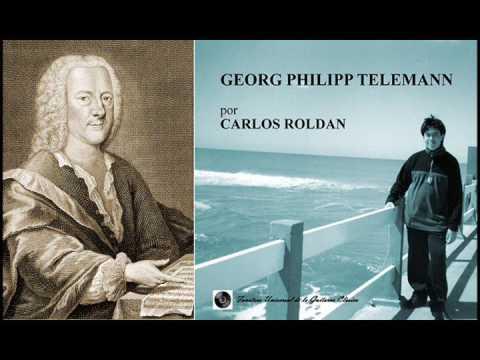 TELEMANN - Concerto TWV 52 e2 / Carlos Roldan (guitar ensemble)