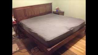 "King Size Platform Bed ""the Final Look"""