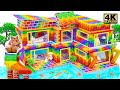 - Build Millionaire Mansion Have Water Slide Swimming pools for Hamster From Magnetic Balls Satisfying