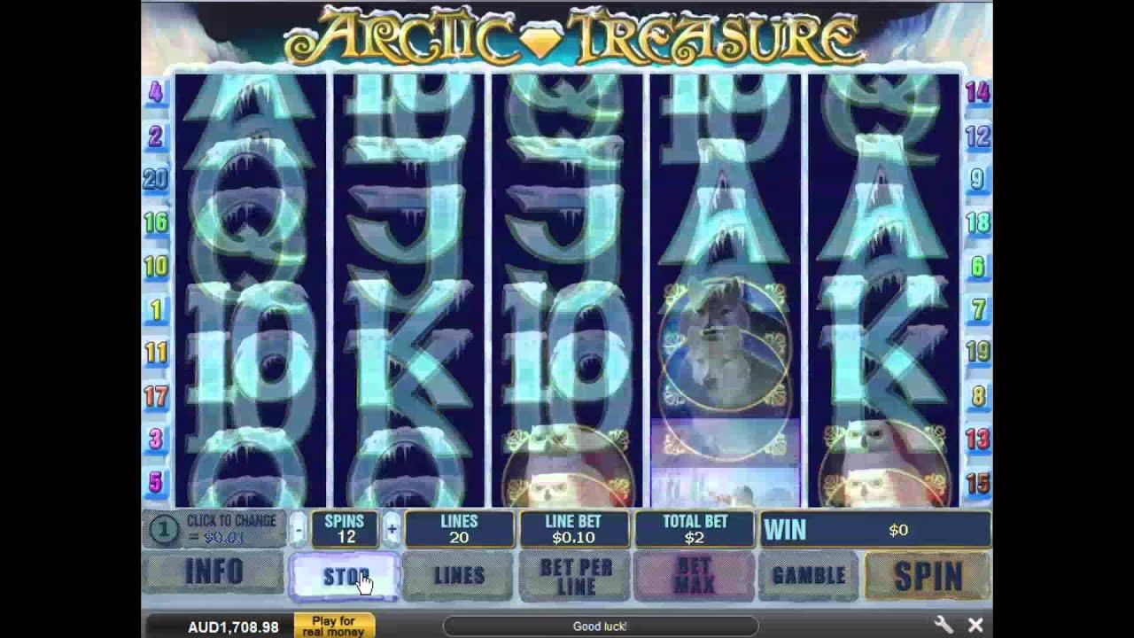 Arctic Treasure Slot Machine At Grand Reef Casino Youtube