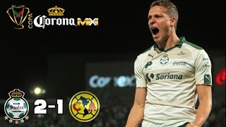 santos vs america goles 4-1 2018