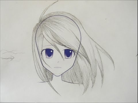 draw manga girl hair styles