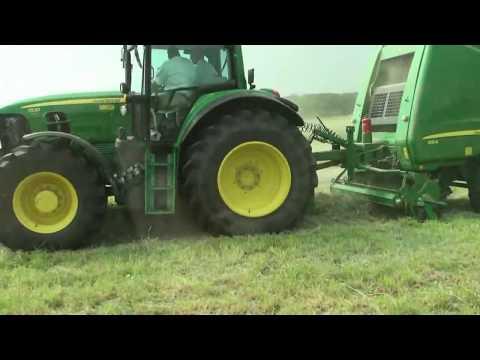JOHN DEERE 960 - 990 round baler - YouTube