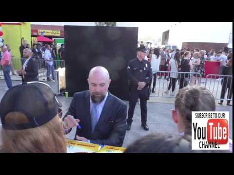 Conrad Vernon greets  outside the Sausage Party Premiere at Bruin Theatre in Westwood