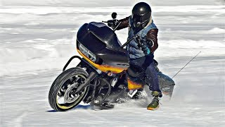 Шипованный Harley Davidson Зимний Дрифт