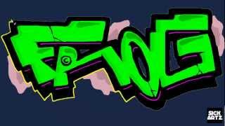 HOW TO DRAW GRAFFITI FROG SPEED PAINTING TUTORIAL SKETCH LEARN MS PAINT LERNEN BLACKBOOK LETTERS