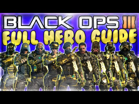 "Black Ops 3 - All 9 Specialist Characters Gold ""Hero Gear"" Strategy Guide / Tips & Tricks"