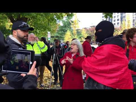 Antifas Nov 4th rally Portland Oregon.