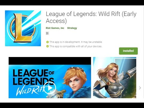 Lol League Of Legends Wild Rift Apk Download Link Youtube