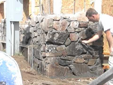 Slipform Stone Masonry (sample clips from the DVD) - YouTube