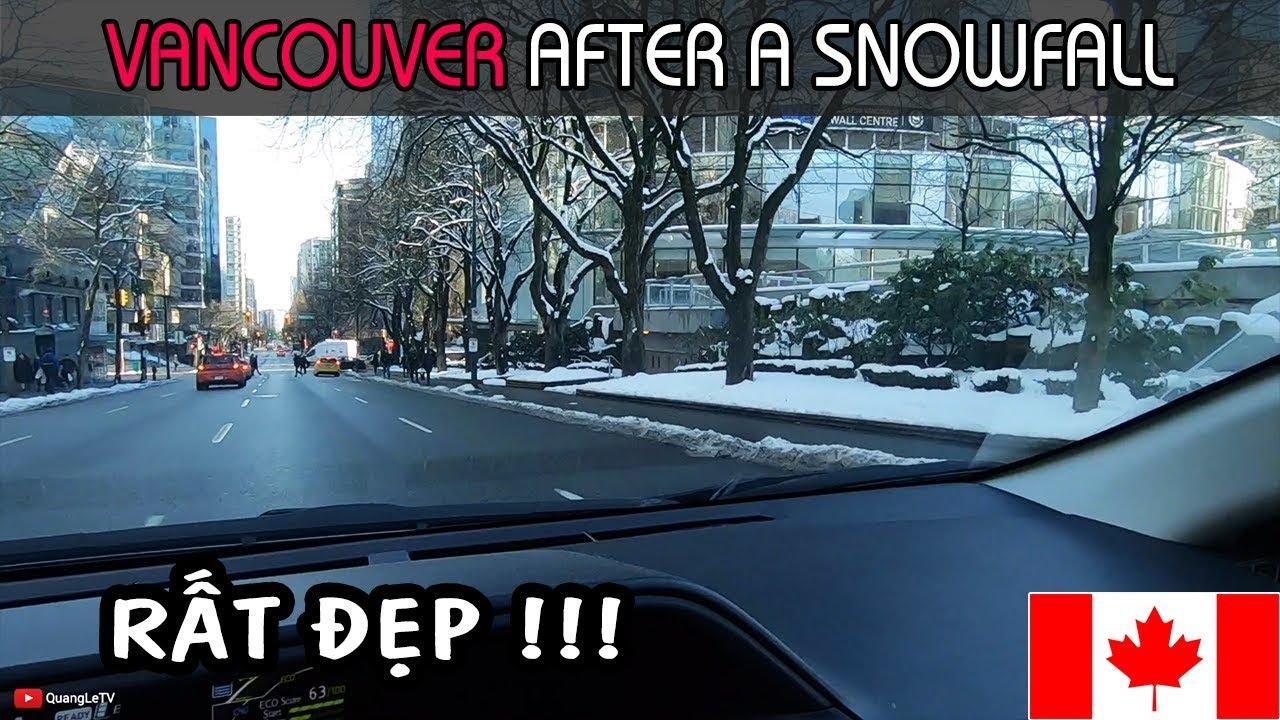 TUYẾT RƠI TRẮNG XOÁ Ở VANCOUVER CANADA RẤT ĐẸP - VANCOUVER, BC AFTER A SNOWFALL