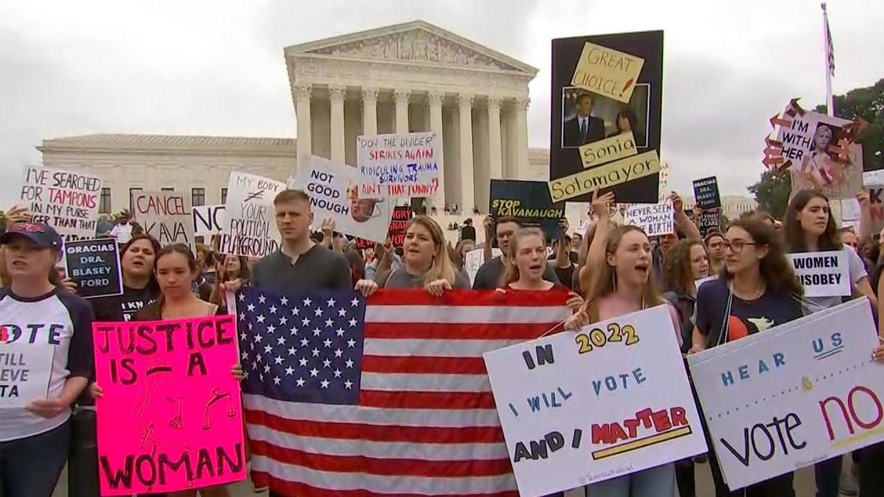 Protests Erupt Ahead Of Senate's Vote To Confirm Kavanaugh | NBC News