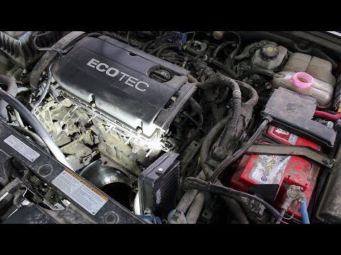 Снятие и установка теплообменника двигателя на Chevrolet Cruze 1,8 Шевроле Круз 2011 года  1часть
