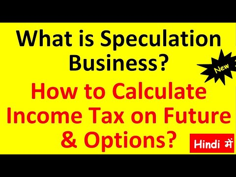What is Speculative Business Income|Taxability of Speculation Income| Income Tax on Future & Options