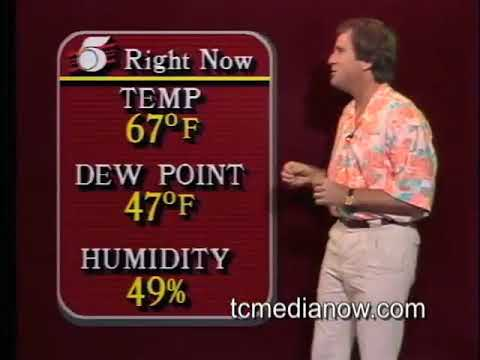 Gary Lumpkin does the KSTP-TV Weather, 1986