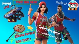 PRIVATE SERVER 🔴 LIVE FORTNITE ITA SKIN REGALO TO CHI MY SUPPORT: J1-GABRYDELLE-YT (280/300)