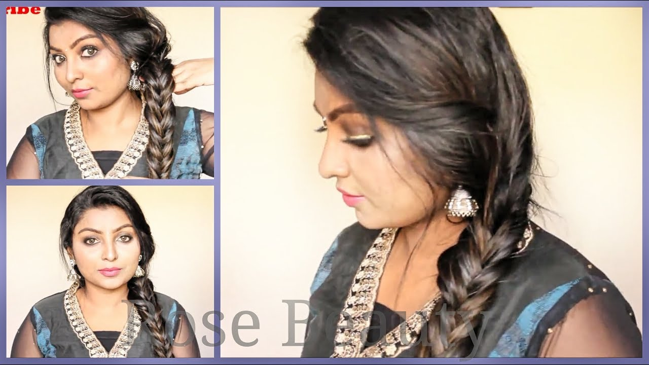 Actress Samantha Inspired Hairstyle Tutorial Easy Puffy Hairstyle Rose Tamil Beauty And Makeup Youtube