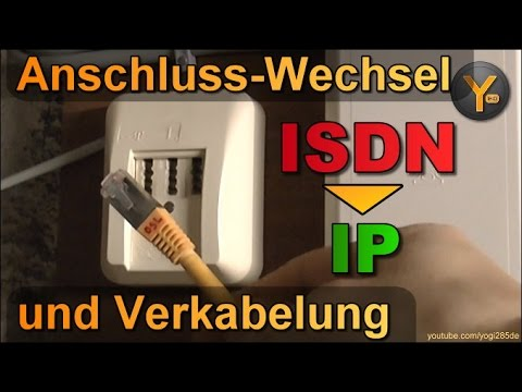 wechsel vom isdn zum ip anschluss verkabelung youtube. Black Bedroom Furniture Sets. Home Design Ideas