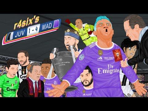 Parodia animada del Juventus 1-4 Real Madrid de la Final de Champions 2017