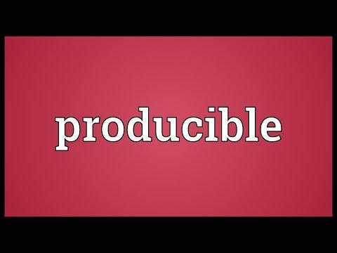 Header of producible