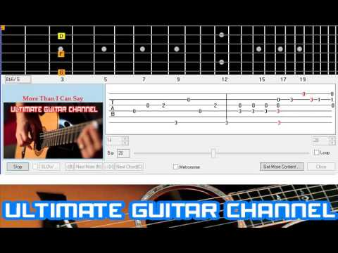 Guitar Solo Tab More Than I Can Say Leo Sayer Youtube