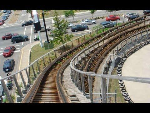 Myrtle Beach Hurricane Wooden Roller Coaster Pov Defunct Pavilion Amut Park