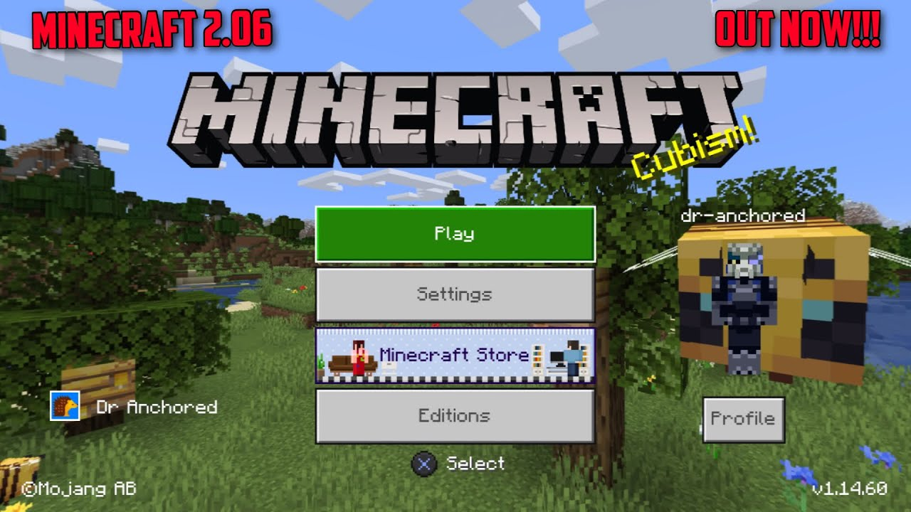 MINECRAFT PS100 100.100/10.10100.10 UPDATE OUT NOW