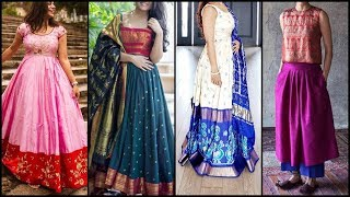 Latest Dress Ideas From Old Saree | Reuse of Old Saree | Reuse of Old Saree