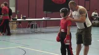 2013-07-13 BM-Kickboxen - Niklas Baumann Kampf um Pl.3 LK-50KG in Ebern - Sugambrer Fightclub