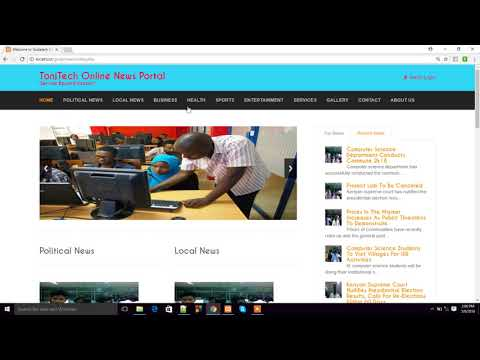 Online News Portal In PHP For Free
