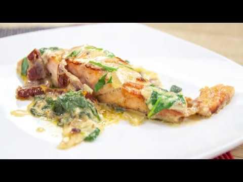 pavés-de-saumon-à-la-crème-fraîche-et-aux-épinards-cuits-à-la-poêle!