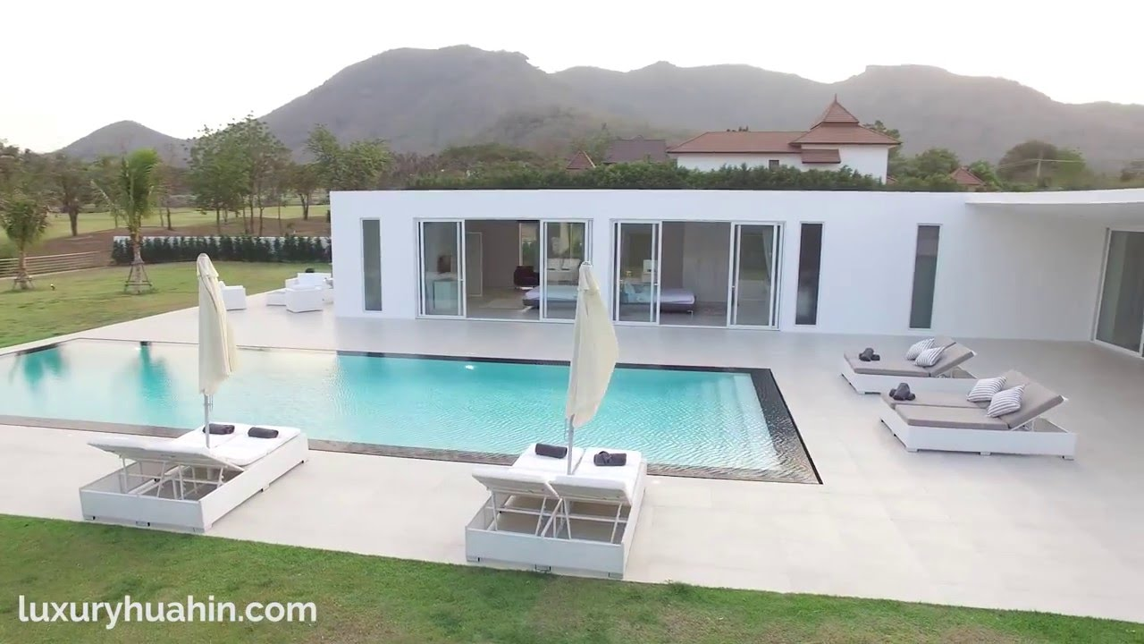 Palm hills golf course view modern design villa for sale for Pool design course