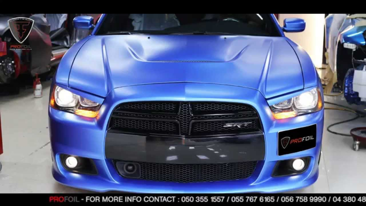 Car Wrap Dubai Dodge Charger Youtube