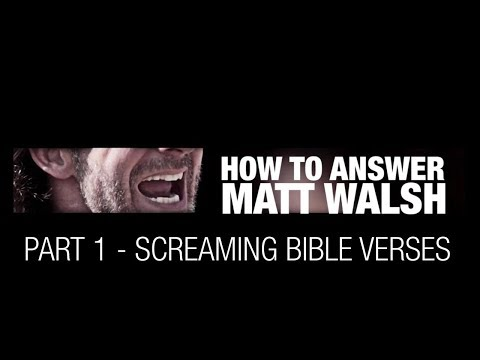 How To Answer Matt Walsh Part 1 - AA EP1