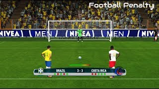 Brazil vs Costa Rica | Penalty Shootout | PES 2017 Gameplay PC