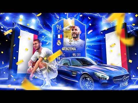 THE BEST LA LIGA STRIKER?! 96 TEAM OF THE SEASON BENZEMA PLAYER REVIEW! FIFA 19 Ultimate Team