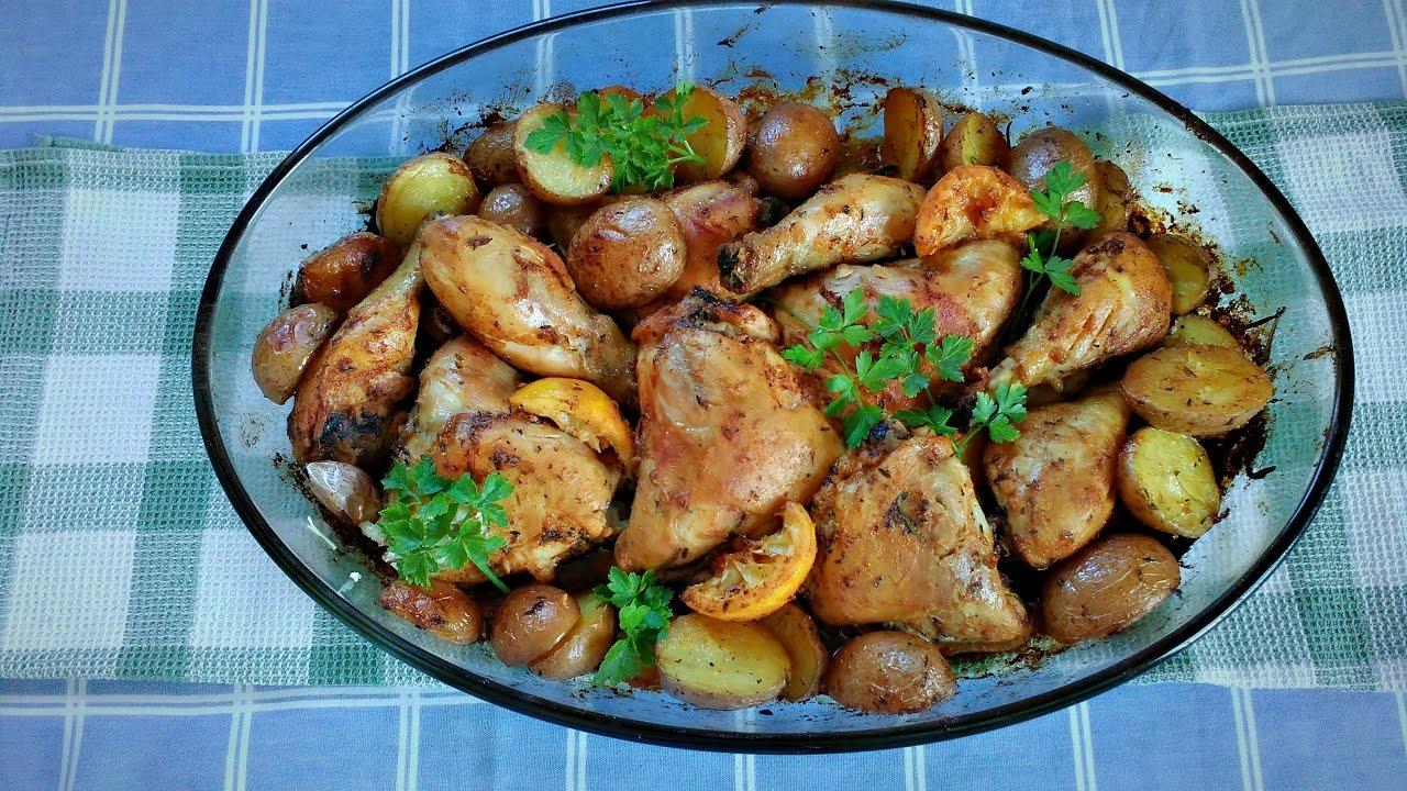 Top Frango assado no forno com batatas - YouTube FV24