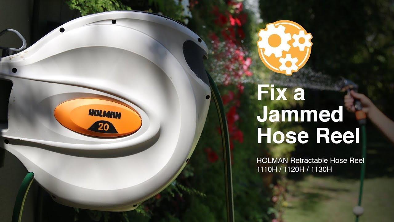 how to fix a jammed retractable hose reel - Retractable Hose