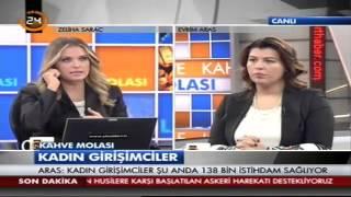 Evrim Aras, TV 24'de Kahve Molası programının konuğu oldu