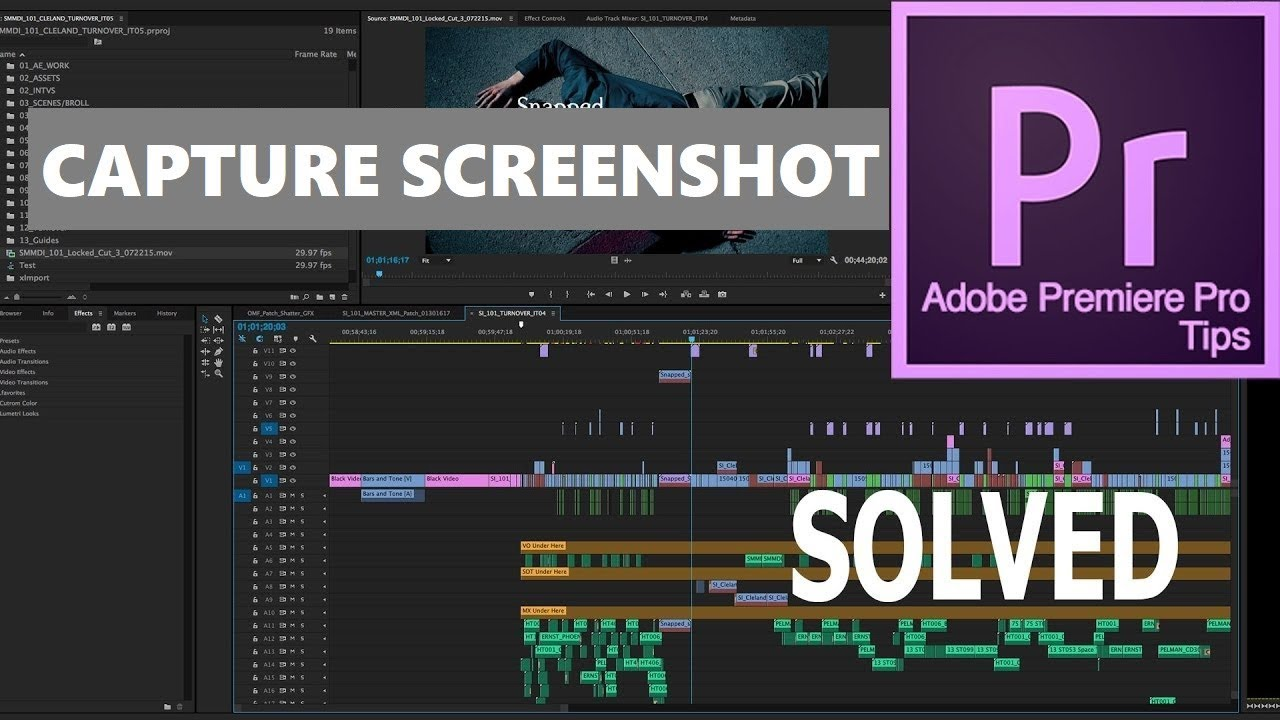 Adobe premiere pro tutorial |capture still image from ...