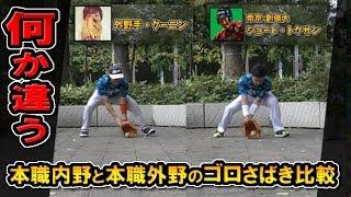 守備でプロ行きかけた内野手と本職外野のオイラのゴロ補球を比較してみた thumbnail