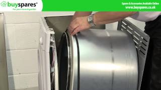 how to replace the belt on an indesit or hotpoint vented tumble dryer