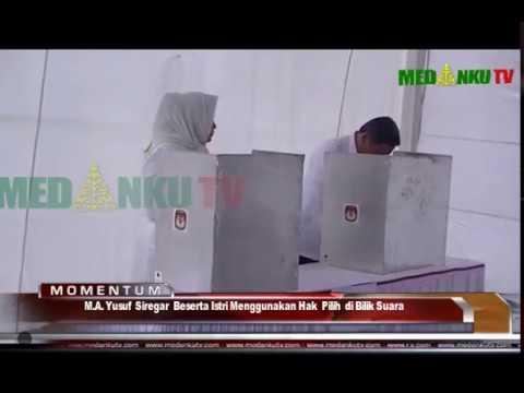 M A  Yusuf Siregar Calon Wakil Bupati Deli Serdang Mencoblos di TPS 08