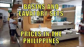 Basin and Lavatory Sets, Prices In The Philippines.