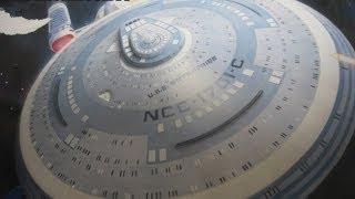 Painting the AMT 1/1000 scale USS Enterprise-C model