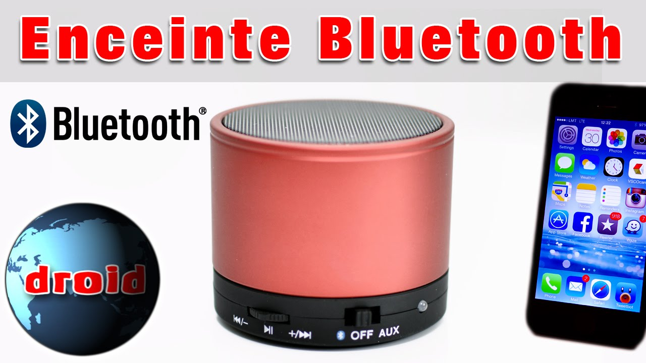enceinte bluetooth mini sans fil pour portable et tablette android youtube. Black Bedroom Furniture Sets. Home Design Ideas